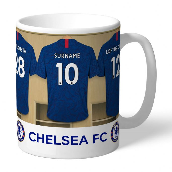 Personalised Chelsea FC Football Dressing Room Mug | Personalised Sports Gifts | The Present Season